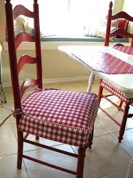 Red Plaid Chair Kitchen Pads Small Seat Of Intended For Inspirations 5
