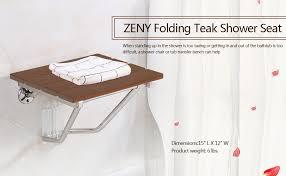 Bathtub Transfer Bench Amazon by Amazon Com Zeny Wall Mounted Bath Shower Bench Seat Folding