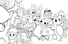 Pokemon Group Coloring Pages