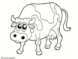 Dessin Dune Vache Et Son Veau