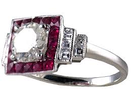 deco ruby and ring antique engagement rings deco ring r0572