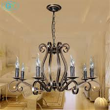 Wrought Iron Chandeliers New Style Chandelier Vintage Candle Lighting For Living Room Dining
