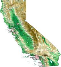 Geopolitical Map Of Outline California