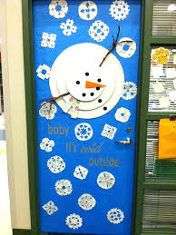 Christmas Door Decorating Themes For fice