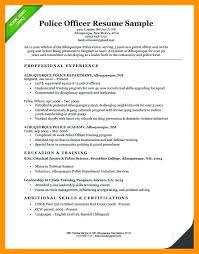 Police Officer Job Resume Examples Here Are Sample Corrections Special Re