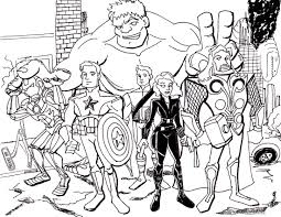 Avengers Coloring Pages Sheets And For Kids