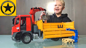BRUDER TRUCKS Live👍 MB Arocs Construction TRUCK 🚛 With CRANE ... Brushwood Toys B02511 Bruder Linde Fork Lift H30d With 2 Pallets Garbage Truck In Neat Montreal Man Tgs Rear Loading Mack Granite Dump Trucks Accsories Readers Rides 66 Drift Aussie Rc Man Tga Tip Up By Fundamentally Loader Kids Car Pictures Videos Wwwpicturesbosscom Toy For Unboxing Jcb Backhoe Garbage Truck Videos Kids Preschool Kindergarten Tanker Vehicle Bta02827 Bta03762 Green Trash Side Half Pencil Videos For Children L Playing With Bruder And Tonka