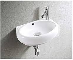 waschbecken design handwaschbecken eckwaschbecken klein 400 280 120 mm mm in hochglanz weiß mit lotus effekt 3052 of baan