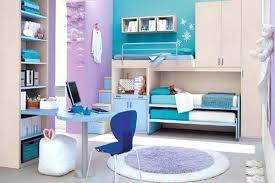 Girls Blue Bedroom Modern Ideas For Teenage And Purple Blended