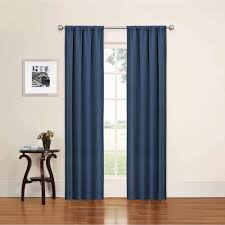 wallmart curtains for living in blue color features rod pocket