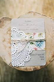 Beautiful Wedding Invitation With Floral Prints And Paper Doily Invite Weddinginvitation