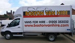 100 Boston Truck Rental Van Hire Lincolnshire Van Hire Car Van Hire