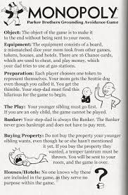 Board Game Rules From The Kids Of Broken Homes