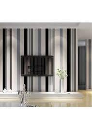 tapete moderne minimalistische schwarz weiß grau gestreifte