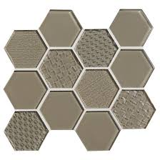 american olean color appeal entourage felicity hexagon glass