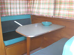 Vintage Shasta Trailers Have Beautiful Interior Wood Work And Cabinetry With Their Retro Upholstery Formica Countertops Birch Or Ash Cabinets