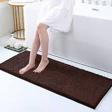 deconovo badvorleger rutschfest badezimmerteppich mikrofaser