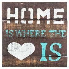 Home Is Where The Heart Wood Sign With Easel