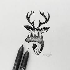 Portland Based Artist Sam Larson Has Created Minimal Black And White Illustrations That Combine Elements Of Wild Landscapes Animals Into Hybrid