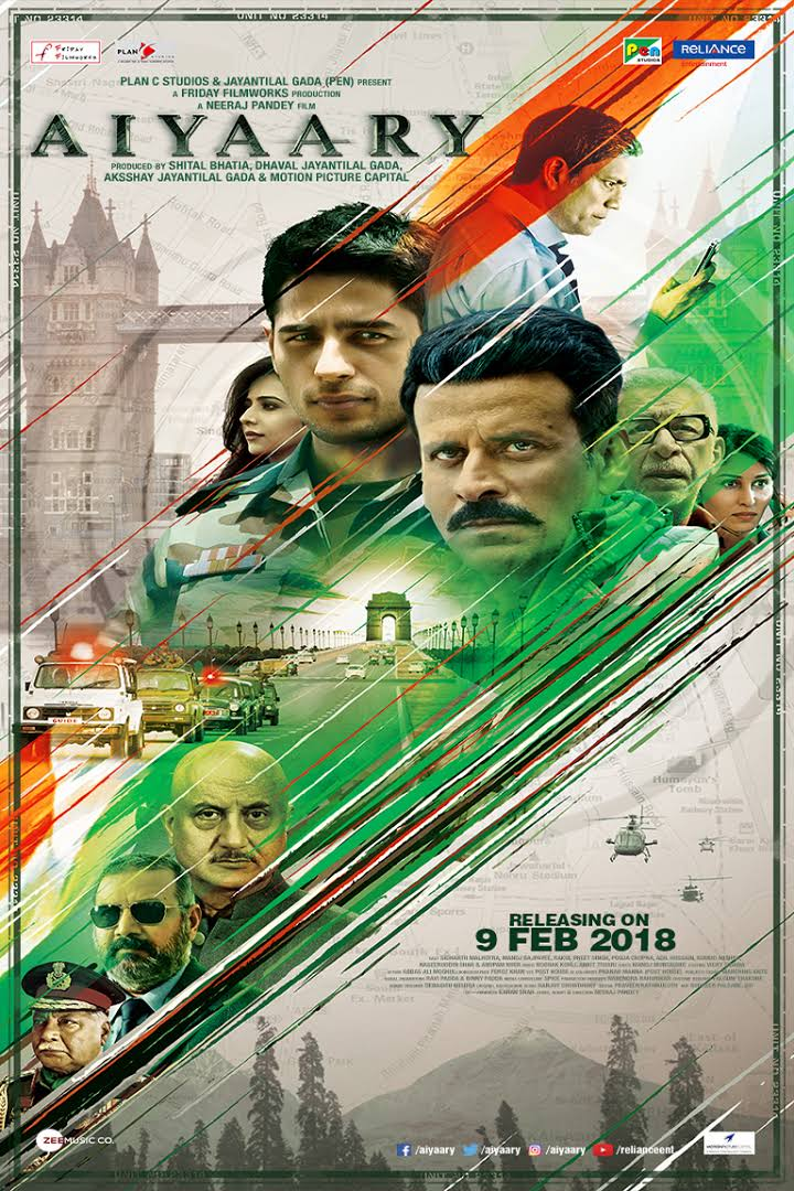 Aiyaary 2018 Hindi Full Movie Download HDRip 480p 675MB, 720p 1.25GB