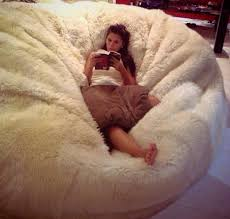Image Of Huge Sheepskin Beanbag
