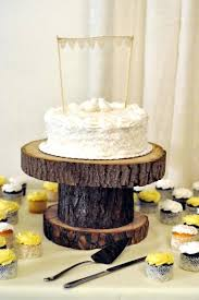 Log Wedding Cake Stand Rustic From Once Wed Preview Pictures To Pin On Wooden Uk