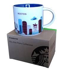 Amazon Starbucks Coffee Mug You Are Here Collection Boston 14 Oz Kitchen Dining