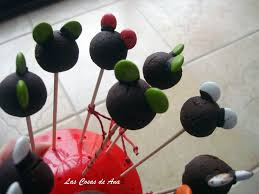 Las Cosas de Ana CAKE POPS Mickey and Minnie Mouse