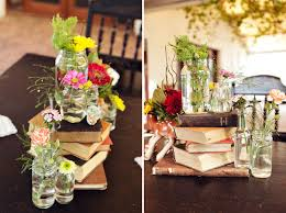Chic Photos Of Vintage Wedding Centerpieces With Books