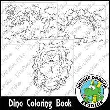 INSTANT DOWNLOAD 9 Dinosaur Coloring Pages That You Can Print And Colorgreat For Road Trips Birthday Parties Or Just Fun
