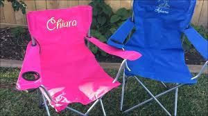 How To Embroider A Folding Camp Chair