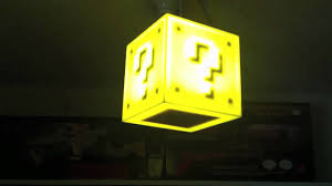Mario Question Mark Block Lamp by Super Mario Cube Light By 8bit Lit Youtube