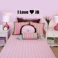I Love JB Justin Bieber Girls Bedroom Wall Sticker 60x10 Amazoncouk