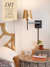 DIY Project Gold Leaf Lamp Shade DesignSponge