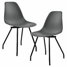 möbel 2x stühle dunkelgrau lehnstuhl esszimmer stuhl