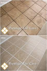 clean tile and grout on a kitchen floor seattle tile and grout