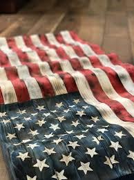 Rustic Flying Wavy American Flag