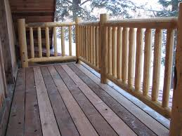 wood deck railing photos cascade log creations did a fantastic