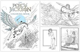Behind The Book Percy Jackson Coloring By Keith Robinson