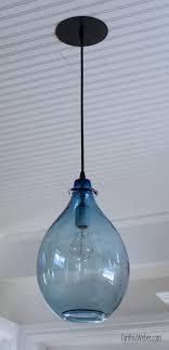 pendant lighting ideas beautiful 10 blue glass pendant light