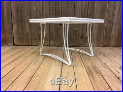 Vintage Homecrest Patio Table by Vintage Homecrest Patio Table Plant Stand White Mid Century Modern