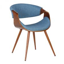 Armen Living Barrister Chair by Living Butterfly Mid Century Dining Chair In Walnut Wood And Blue