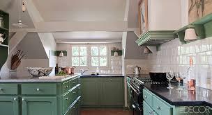 Normandy Farmhouse Green And White Kitchen