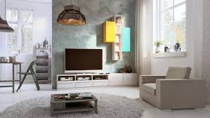 hifi board mit modernem hängeregal wohnzimmer häng