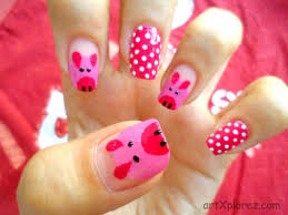 Cute Piglet Nail-Art | ArtXplorez Nail Designs You Can Do At Home Myfavoriteadachecom Simple Beginners How To Make Art Easy Way Zigzag Awesome Projects On 12 Ideas Yourself Beautiful Nails Idea To Make Cute Making Awesome Nail Design Photos Decorating Mesmerizing Pleasing 20 Flower Floral Manicures For Spring At Best 2017 Tips Toe Gallery Image Collections And Zebra Designs Step By How You Can Do It Home