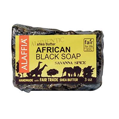 Alaffia Authentic African Black Soap - Savanna Spice, 3oz