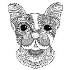 French Bulldog Puppy Zentangle Stylized Good For A Tattoo
