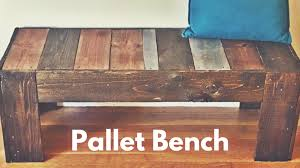 DIY Bench Project Uses Reclaimed Pallet
