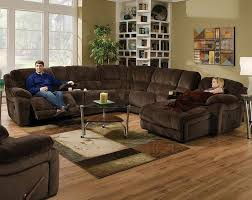 Chocolate Corduroy Sectional Sofa by Brown Wrap Around Couch Championship Chocolate Reclining