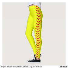 bright yellow fastpitch softball leggings pants fastpitch